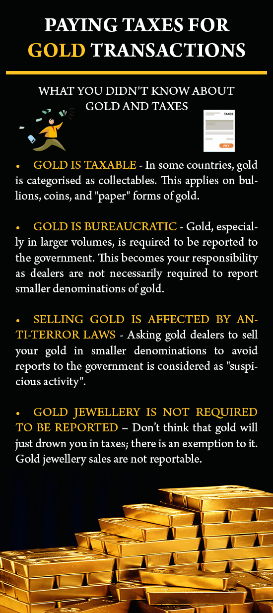 Paying Taxes For Gold Transactions